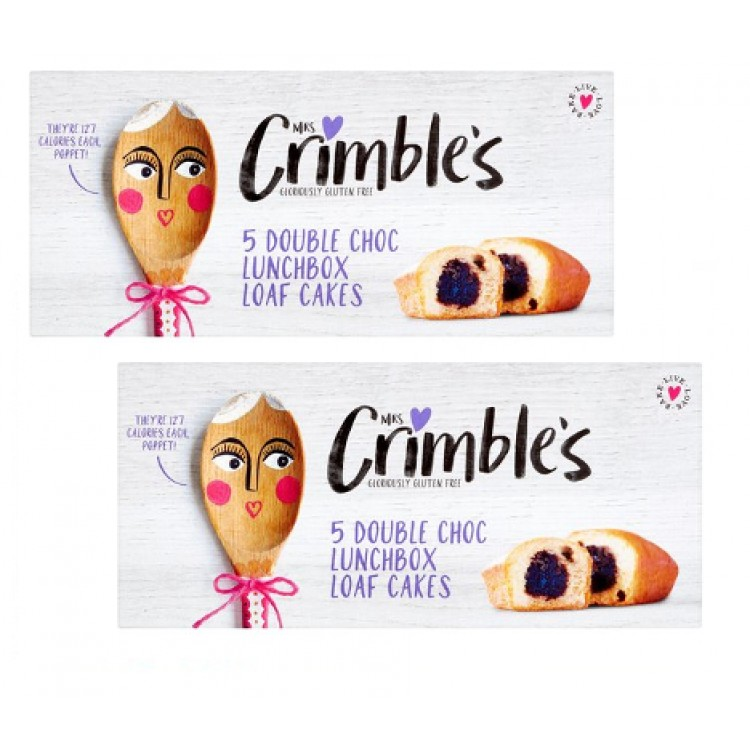 Mrs Crimbles 5 Gluten Free Chocolate Loaf Cakes 2 For £1