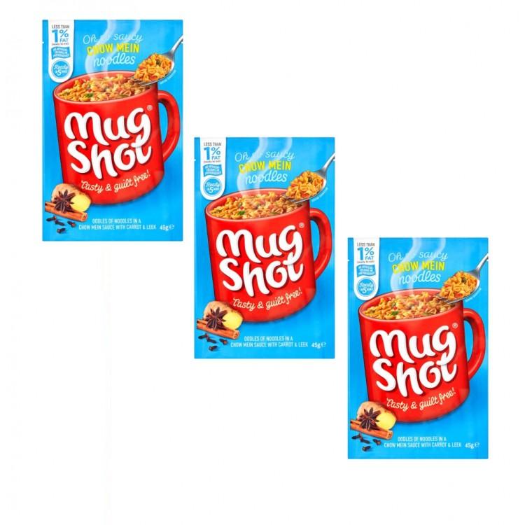 Mugshot Noodles Sachet (Single) Chow Mein 60g 3 For £1