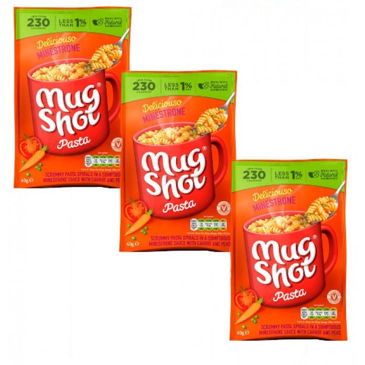 Mugshot Pasta Sachet (single) Ministrone 60g 3 For £1