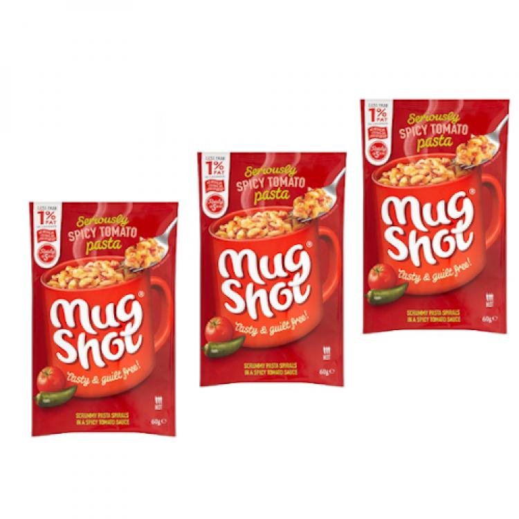 Mugshot Pasta Sachet (single) Spicy Tomato 60g 3 For £1