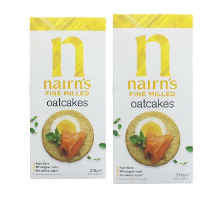 Nairn Fine Milled Oatcoaks 218g - 2 For £1