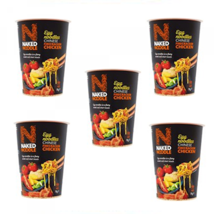 Naked Noodles Chinese Firecracker Chicken Egg Noodles 78g - 5 For £1