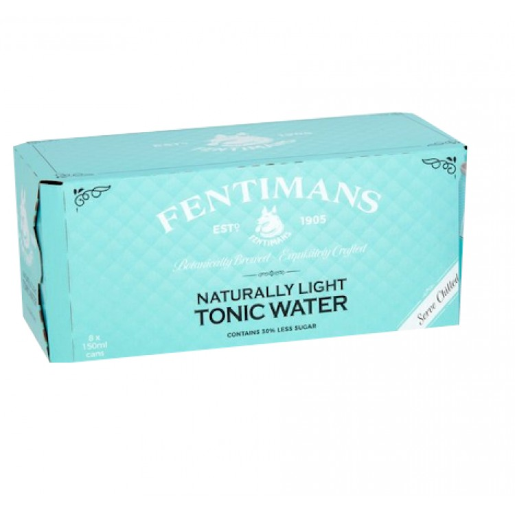 Fentimans Naturally Light Tonic Water CASE of 8 x 150ml Cans