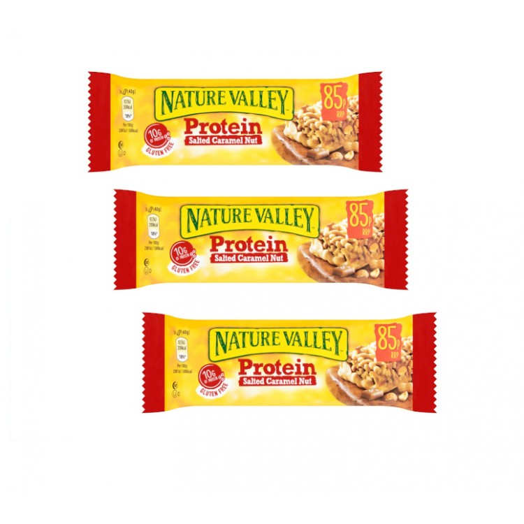 Nature Valley Protein Salted Caramel Nut Bar 40g - 3 For £1