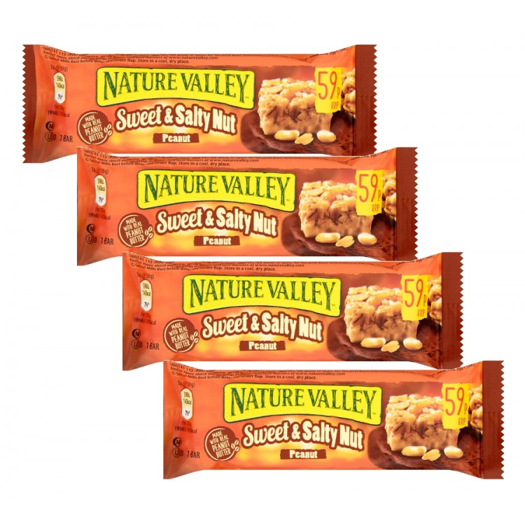 Nature Valley Sweet & Salty Nut Roasted Peanut Bar 30g - 4 For £1