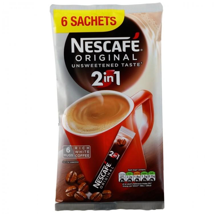 Nescafe 2 in 1 Sachets 6 x 10g