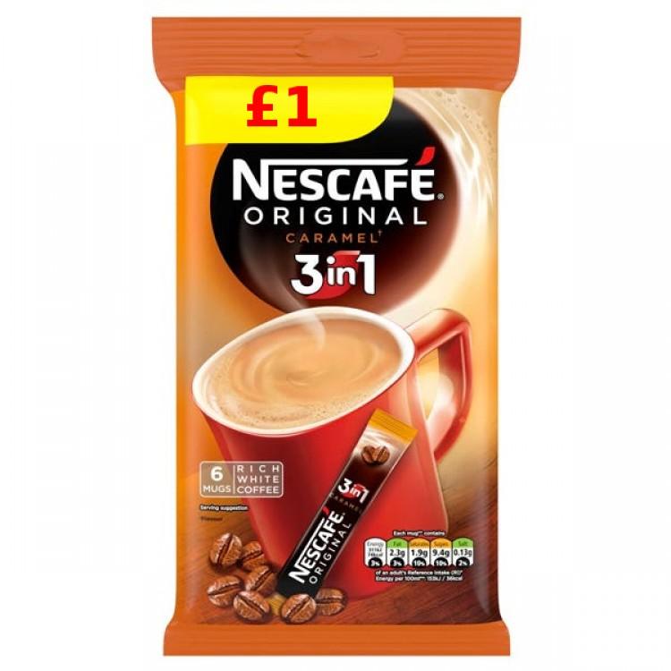 Nescafe Caramel 3 in 1 Coffee Sachets - £1