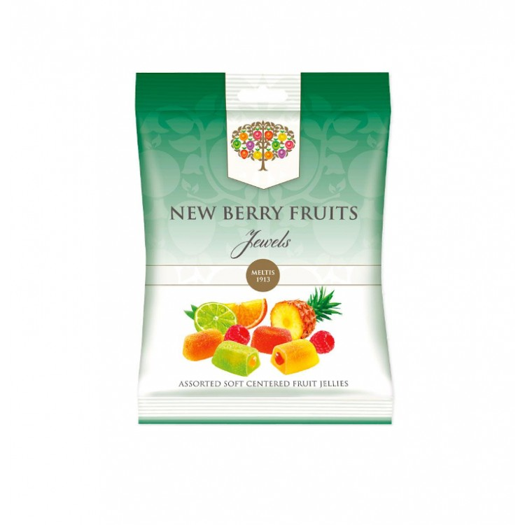 New Berry Fruits Jewels Soft Centred Jelly Sweets 160g