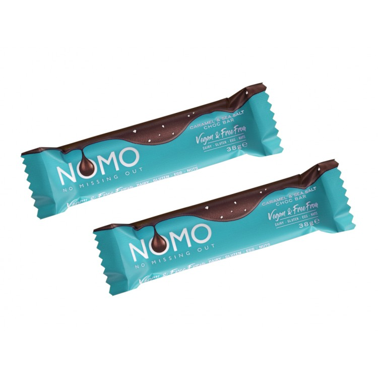 NOMO Caramel & Sea Salt Chocolate Bar 38g - 2 For £1