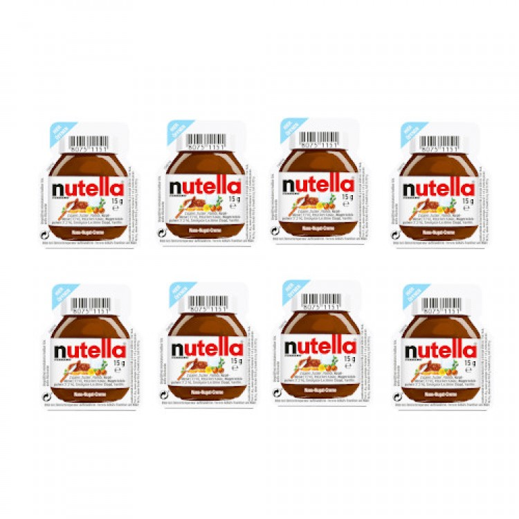 Nutella Chocolate One Serving Spread 15g - 8 For £1