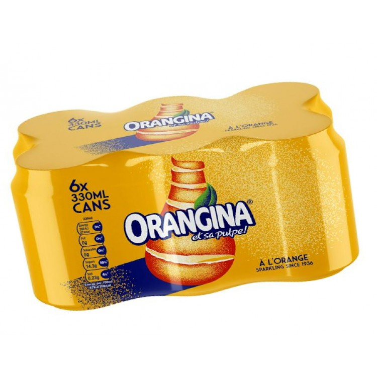 Orangina Orange Drink 6pk - 330ml Cans