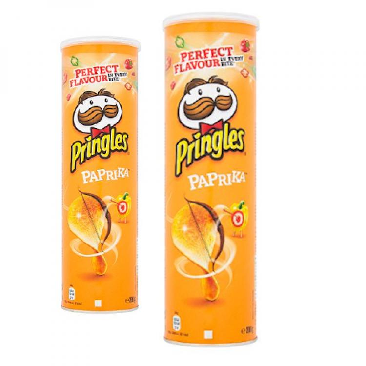 Paprika Pringle 200g - 2 For £1