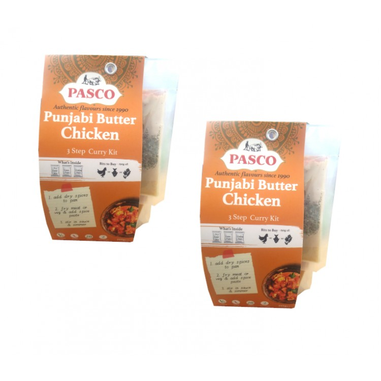 Pasco Punjabi Butter Chicken 3 Step Curry Kit 255g - 2 For £1