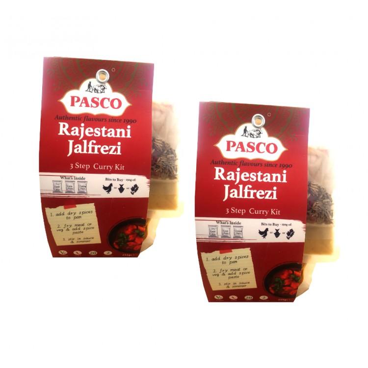 Pasco Rajestani Jalfrezi Chicken 3 Step Curry Kit 255g - 2 For £1