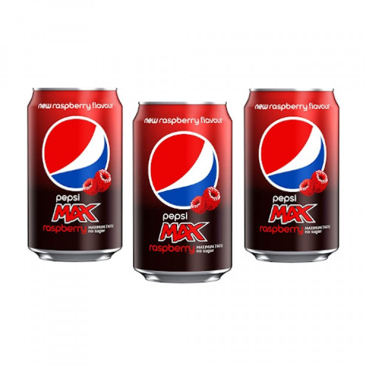Pepsi Max Raspberry Can 330ml - 3 For £1