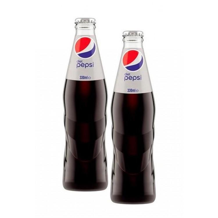 Diet Pepsi Glass Bottled Drink 330ml - 2 For £1