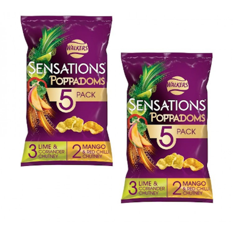 Walkers Sensations Poppadoms 5 pk - 2 For £1.50