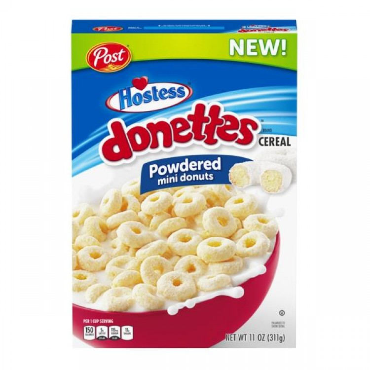 Post Hostess Donettes Powdered Mini Donut Cereal CASE PRICE of 12