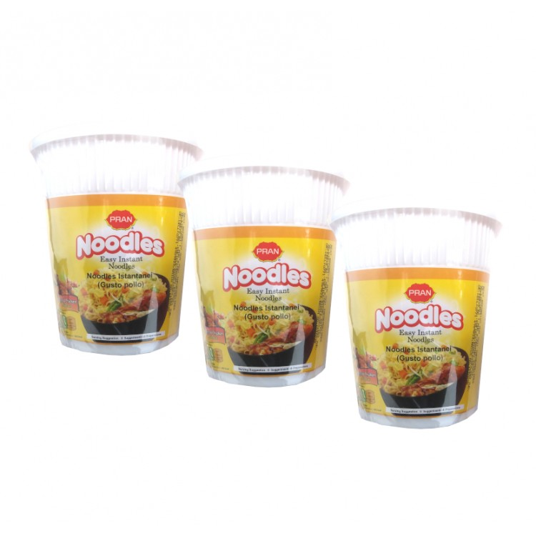 Pran Special Chicken Flavour Easy Noodle Pots 60g - 3 For £1.20