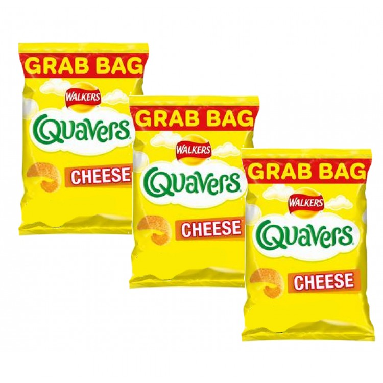Walkers Quavers Cheese Grab Bags 34g - 3 For £1