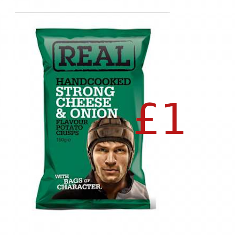 Real Handcooked Cheese & Onion 150g