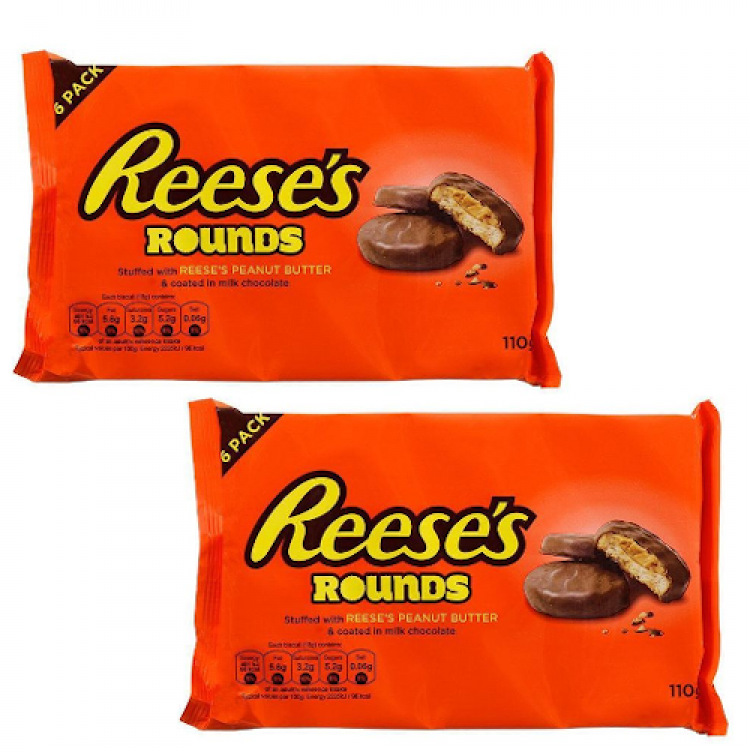Reeses Rounds Peanut Butter Biscuits 110g 2 For £1