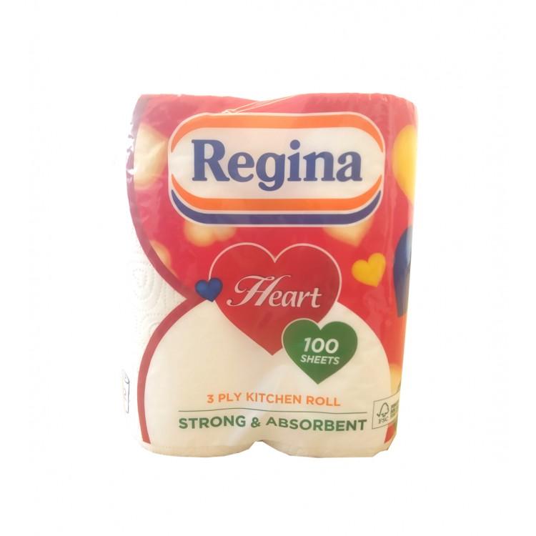 Regina 2pk Kitchen Roll 3 Ply