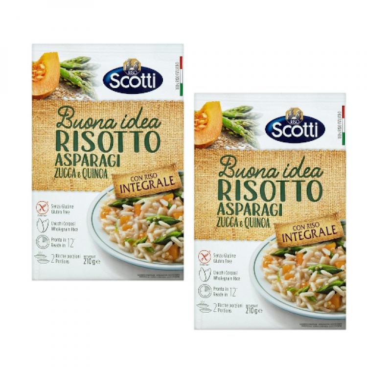 Riso Scotti Risotto Asparagus, Pumpkin & Quinoa 210g