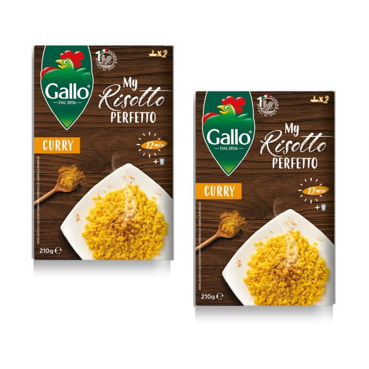 Gallo My Risotto Perfetto Curry 210g - 2 For £1