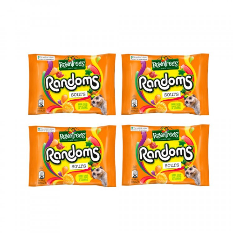 Rowntrees Random Sours 43g - 4 For £1