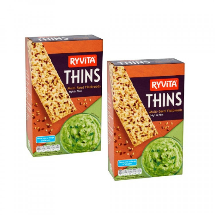 Ryvita Thins Multi-Seed Flatbreads 125g - 2 For £1