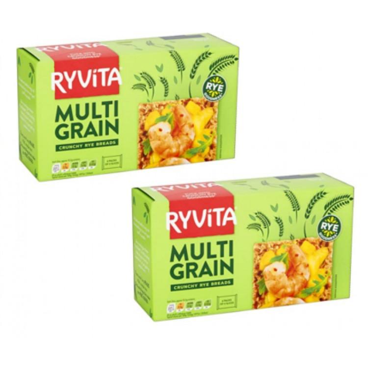 Ryvita Multi-grain Crackers 250g - 2 For £1.50
