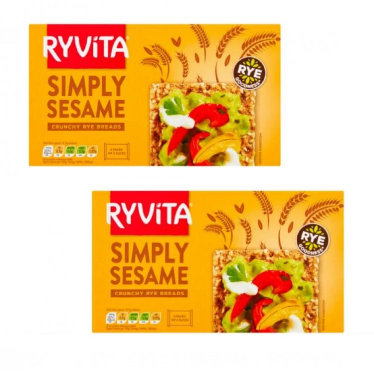 Ryvita Sesame Crackers 250g - 2 For £1.50