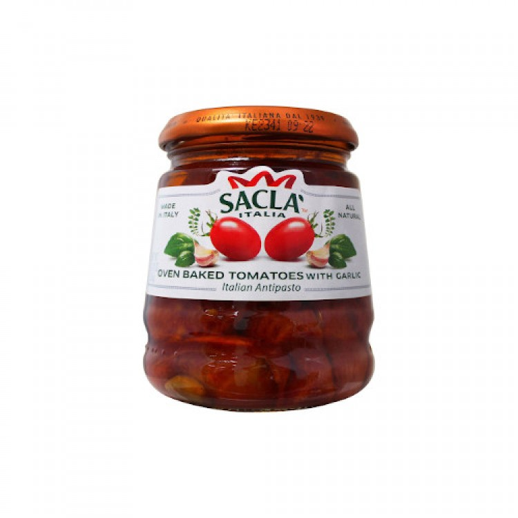 Sacla Oven Baked Tomatoes with Garlic Antipasto 285g