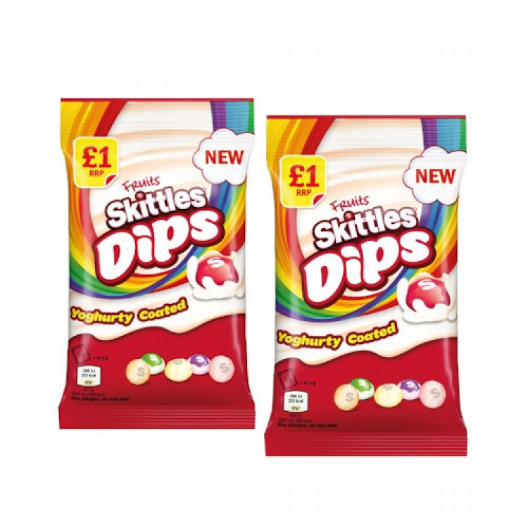 Fruits Skittles Dips Yogurty Coated 95g - 2 For £1