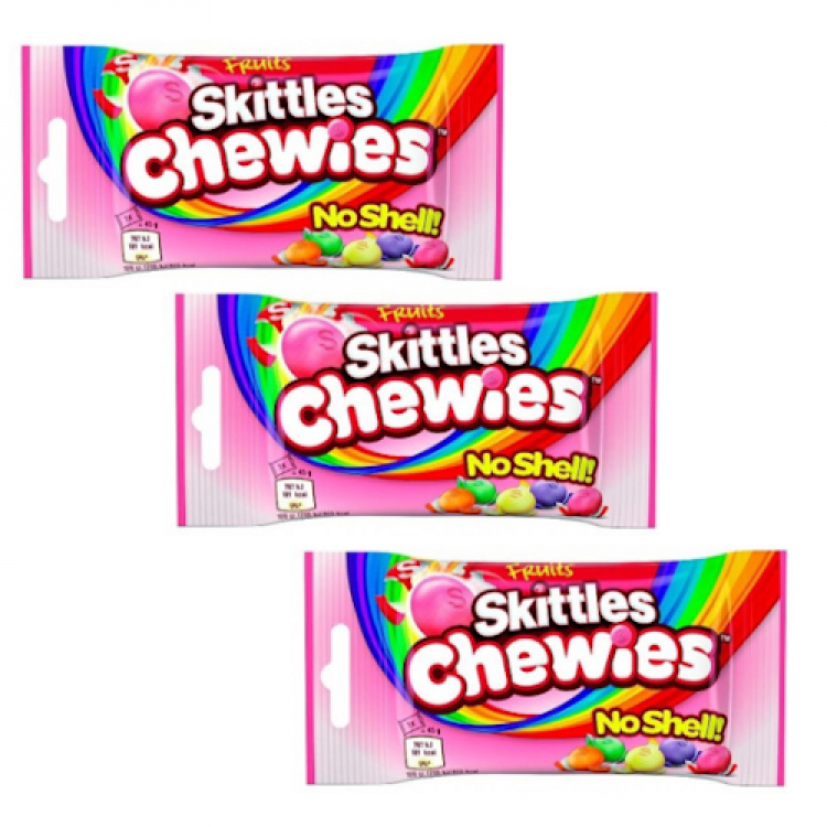 Skittles Chewies No Shell 45g 3 For £1