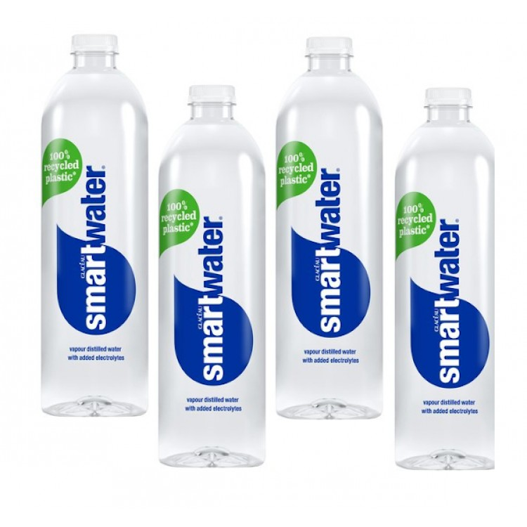 Glaceau Smart Water Sparkling 600ml - 4 For £1