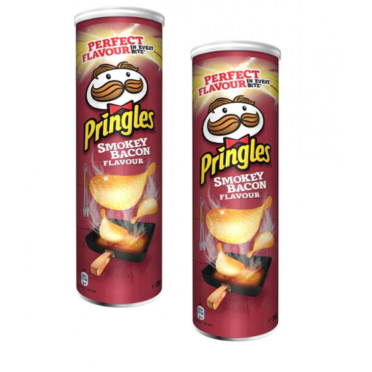 Smokey Bacon Pringles 200g 2 For £1