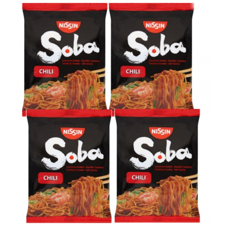 Soba Chilli Noodles (Single) 111g 4 For £1