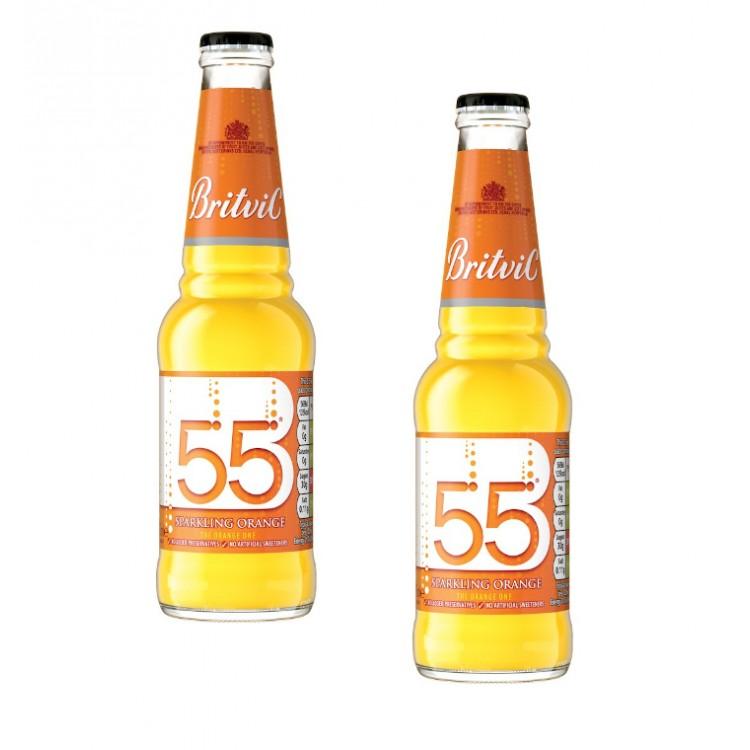 Britvic 55 Sparkling Orange Drink 275ml - 2 For £1