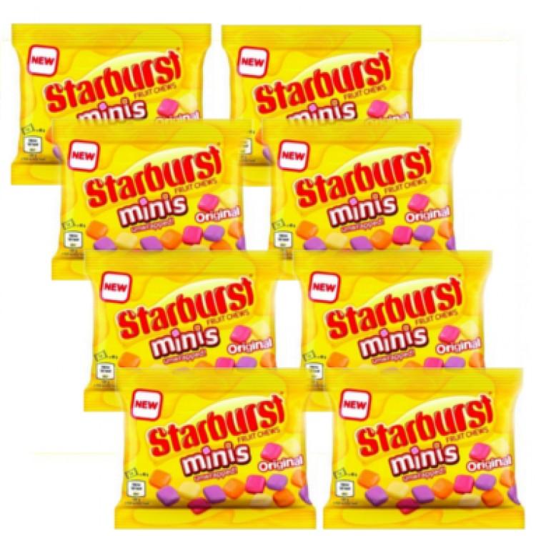 StarBurst Fruit Chews Minis Unwrapped 45g - 8 For £1