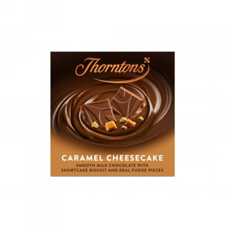 Thortons Caramel Cheesecake Chocolate Bar 90g