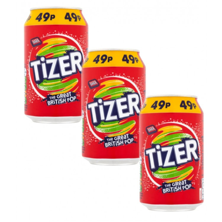 Tizer 330ml Can - 3 For £1