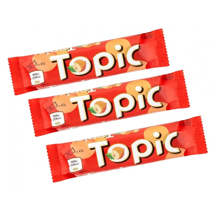 Topic chocolate Bar 47g - 3 For £1