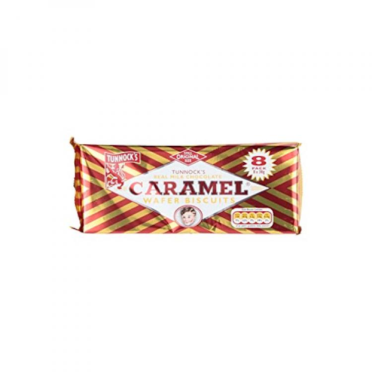 Tunnocks Caramel Wafer Biscuits 8pk