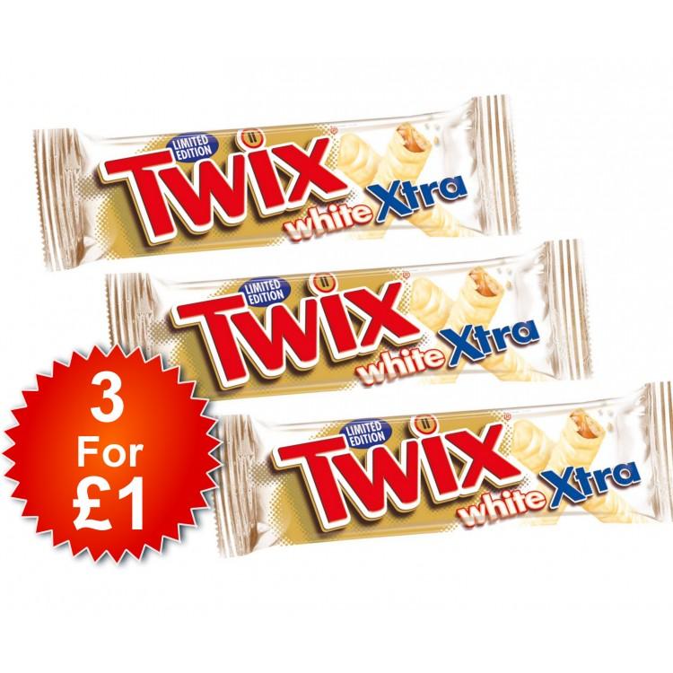 Twix White Xtra Chcolate Bar 75g - 3 For £1