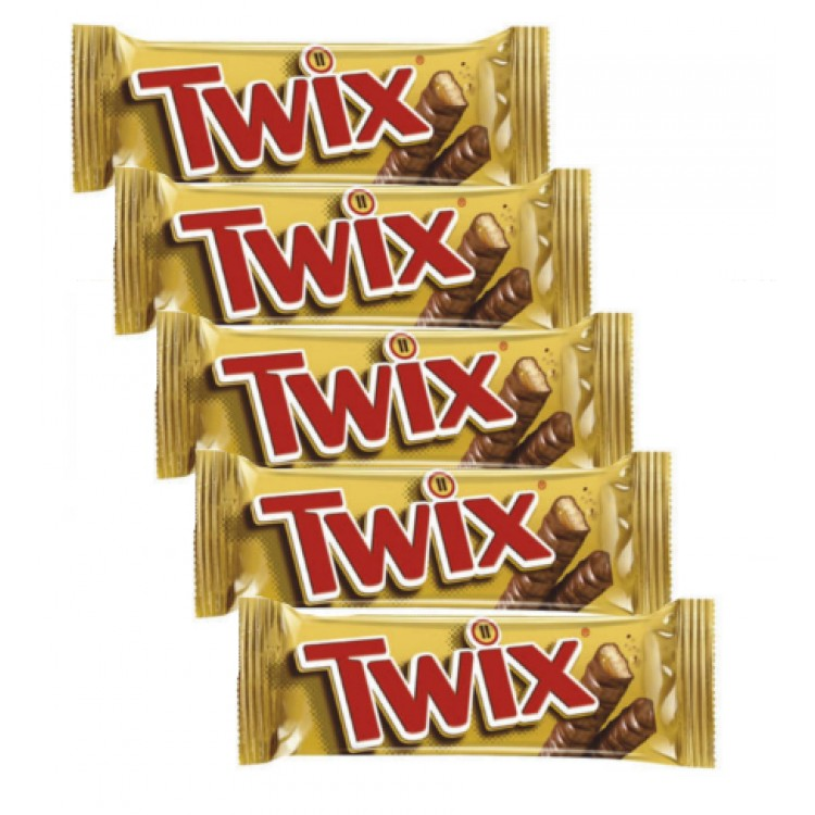 Twix Chocolate Biscuit Bars - 5 For £1