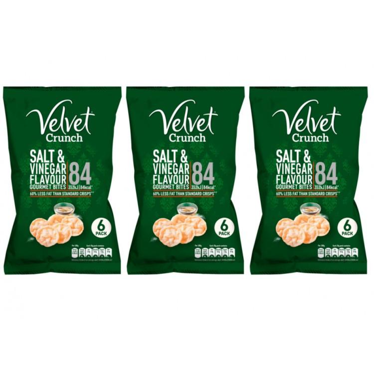 Velvet Crunch Salt & Vinegar Gourmet Bites 5x20g - 3 For £1