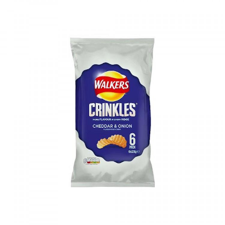 Walkers Cheddar & Onion Crinkles 6pk Crisps