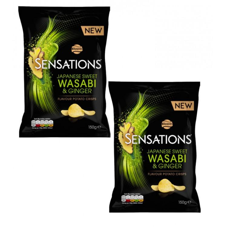 Walkers Sensations wasabi 150g Share Bag) - 2 For £1